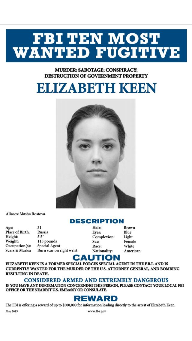 Image - Elizabeth Keen Wanted Poster.PNG   The Blacklist Wiki ...