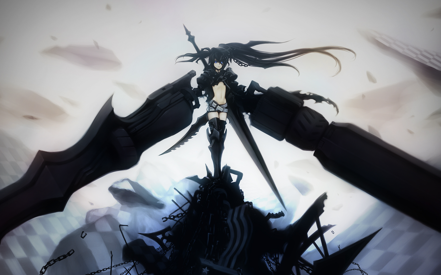 image - black rock shooter wallpapertheaceoverlord | black
