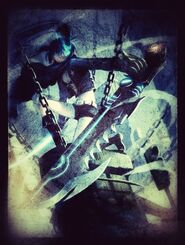 Black rock shooter with king saw by noir black shooter-d63ak8q