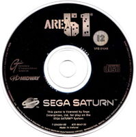 Area 51 Sega Saturn cd