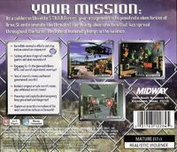Area 51 PlayStation back cover