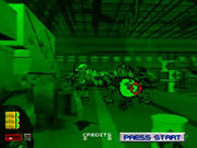 Area 51 PlayStation screenshot soldier running