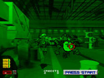 Area 51 PlayStation screenshot soldier running
