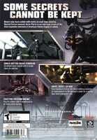 Blacksite- Area 51-2007 Video Game Back Cover