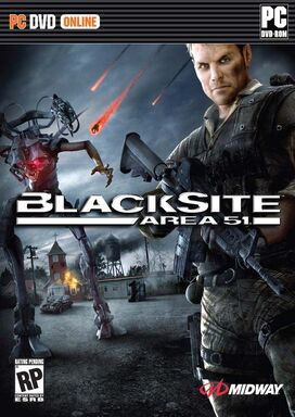 Blacksite- Area 51-2007 Video Game Front Cover