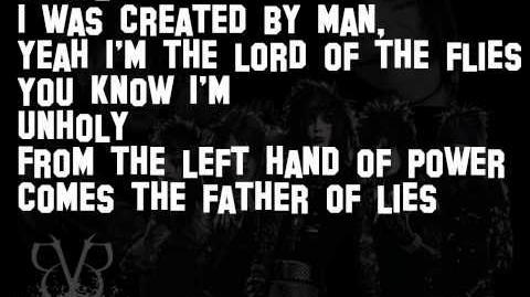Unholy-Black Veil Brides (lyrics)