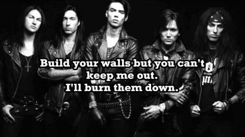 Black Veil Brides-Heart of Fire (Lyrics Video)