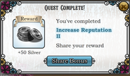 Quest Increase Reputation II-Rewards