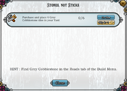 Quest Stones not sticks-Tasks