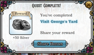 Quest Visit George's Yard-Rewards