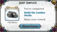Quest Build the London Docks-Rewards