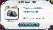 Quest Under Water-Rewards