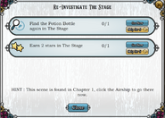 Quest Re-investigate The Stage-Tasks
