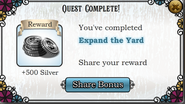 Quest Expand the Yard-Rewards