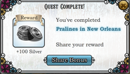 Quest Pralines in New Orleans-Rewards