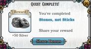 Quest stones not sticks-Rewards