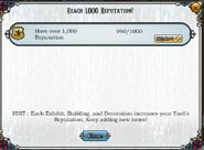 Quest Reach 1000 reputation-Tasks