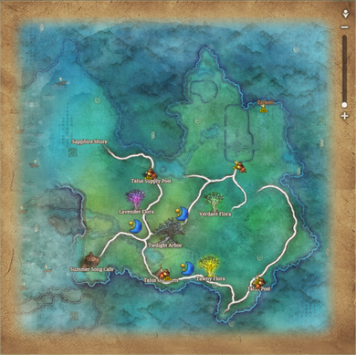 Midnight Skypetal Plains Map