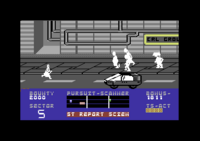 Blade Runner Commodore 64 screenshot and vehicles