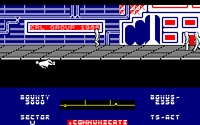 Blade Runner amstrad cpc screenshot squashed by skimmer