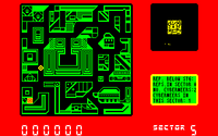 Blade Runner amstrad cpc screenshot top down view of the city