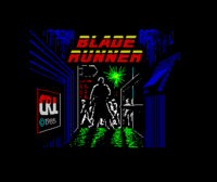 Blade Runner ZX Spectrum screenshot the best graphic of the game