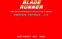 Blade Runner amstrad cpc screenshot startup