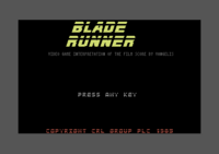 Blade Runner Commodore 64 screenshot startup