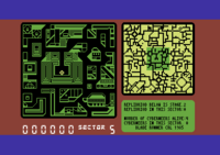Blade Runner Commodore 64 screenshot inside your skimmer