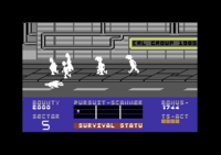 Blade Runner Commodore 64 screenshot dead