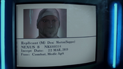 Sapper Morton database entry in Blade Runner Black Out 2022