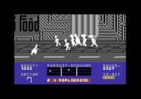 Blade Runner Commodore 64 screenshot watch out for people