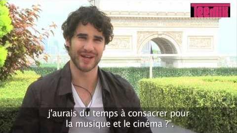 Darren Criss about Glee season 5 (Teemix interview 3 4)