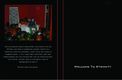 Welcome To Eternity unreleased DVD cover