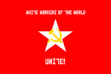 White socialist worker's movement flag