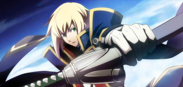 File:Jin Kisaragi (Chronophantasma, Arcade Mode Illustration, 3, Type A).png