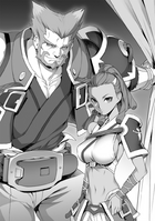 BlazBlue Spiral Shift Hyōjin no Eiyū (Black and white illustration, 2)