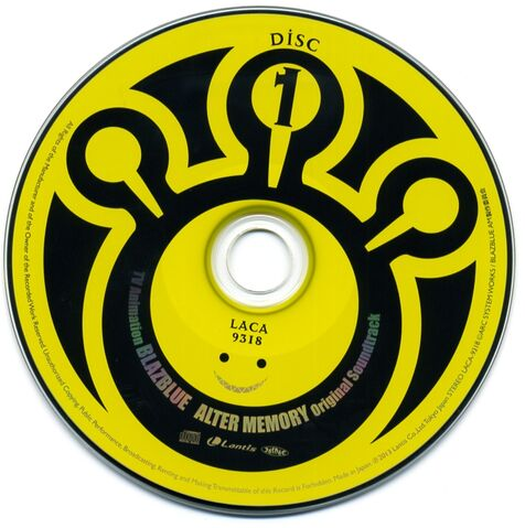 File:TV Animation BLAZBLUE ALTER MEMORY Original Soundtrack (Disc, 1).jpg