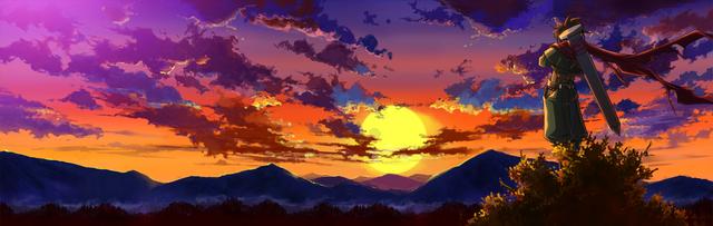 File:Bang Shishigami (Calamity Trigger, Arcade Mode Illustration, 2).png