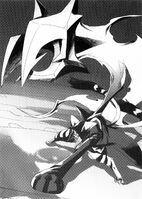 BlazBlue Phase Shift 1 (Black and white illustration, 9)