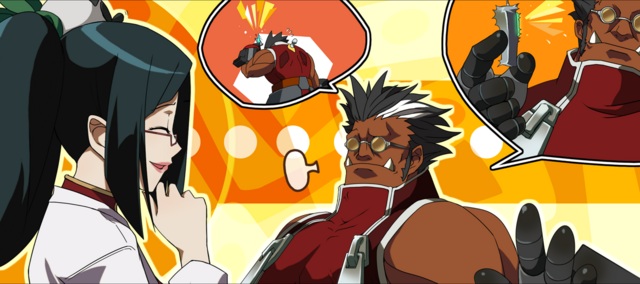 File:Iron Tager (Calamity Trigger, Arcade Mode Illustration, 2, Type B).png