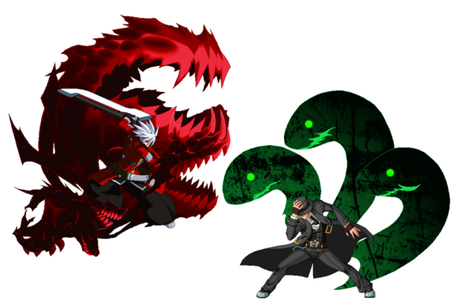 File:Ragna the Bloodedge, Hazama (Fan Art, User Picture, GunBlazer, 1).png