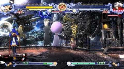 BlazBlue Calamity Trigger - All Cast vs Unlimited Ragna (Hell) v2.0