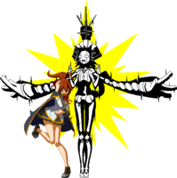 Celica A. Mercury (Sprite, electrocuted)