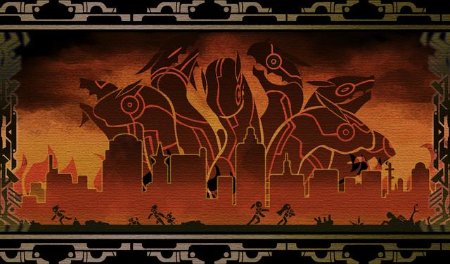 File:Hakumen (Calamity Trigger, Arcade Mode Illustration, 1).png