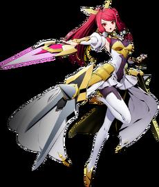 Tsubaki Yayoi (Izayoi) (BlazBlue Cross Tag Battle, Character Select Artwork)