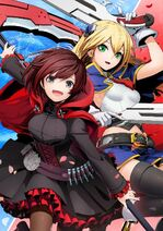 Cross Tag Battle Sofmap poster of Ruby Rose and Noel Vermillion