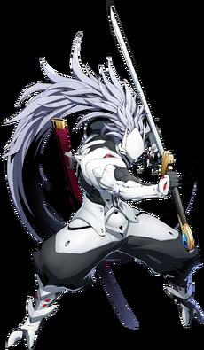 Hakumen (BlazBlue Cross Tag Battle, Character Select Artwork)