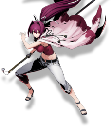 Yuzuriha Sougetsu (BlazBlue Cross Tag Battle, Character Select Artwork)
