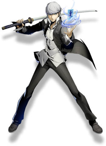 File:Yu Narukami (BlazBlue Cross Tag Battle, Character Select Artwork).png